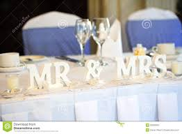 Bride Groom Table Decoration Bride And Groom Table Decoration Royalty Free Stock Photo Image