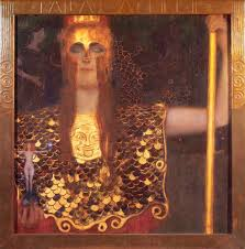 minerva or pallas athena gustav klimt completion date 1898 style art nouveau modern period golden phase genre mythological painting technique oil