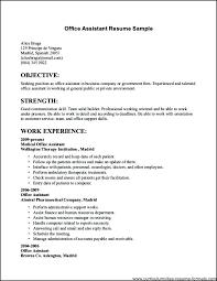 Job Resume Outline Work Resume Outline Basic Job Resume Template