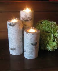 Birch Bark Votive Candle Holders, 8