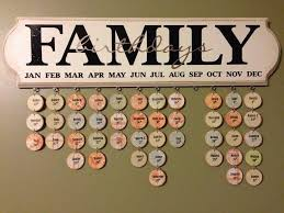 family birthdays calendar make your own hanging birthday calendar diy projects for everyone
