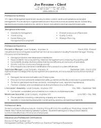 Assistant Operation Manager Resume Magnificent Warehouse Manager Resume Sample Produce Manager Resume Sample New