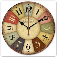 ... Interesting Kitchen Clocks Amazon Wall Clocks Large Rustic Multicolor  Clock Analog Clock: kitchen ...