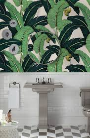 Murwall Banana Leaf Wallpaper Tropical ...