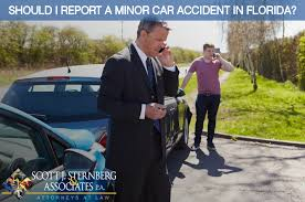 minor car accident. should i report a minor car accident in florida