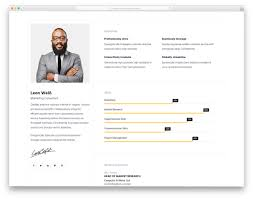 resume web templates 25 best free personal website templates for professionals 2019
