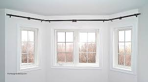 how to put curtains on bay windows unique how to put up a bay window curtain rail