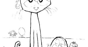 Pete The Cat Coloring Page Keralapscgov