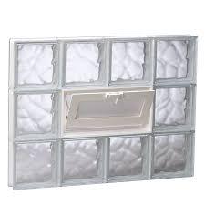 redi2set wavy glass pattern frameless replacement glass clear block window rough opening 31 5