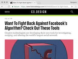 Fast Company S Co Design Facebook Demetricator Go Rando And Textbook In Co Design