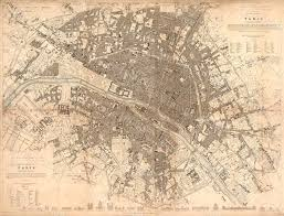 old paris map 1834 giant restoration decorator style map paris wall map fine art print poster old map of paris antique map wall art
