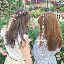 夏のイベントは愛莉ヘアで決まりボブでも可能リボン編み込みの