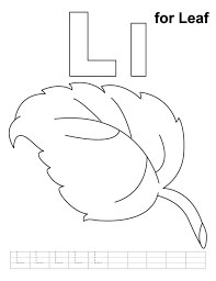 L Is For Leaf Alphabet Coloring Pages Free Alphabet Coloring