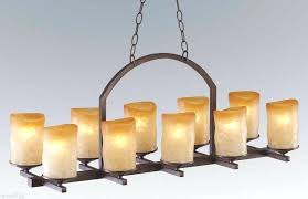 candle chandelier non electric pillar candle chandelier rectangular