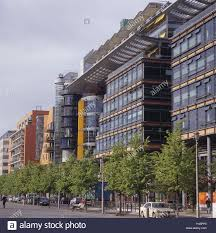 office facades. Germany, Berlin, Potsdam Space, Linkstrasse, Terrace, Facades, Europe, Capital, Town Traffic, Building, Architecture, Urbanity, Office Trees, Facades M