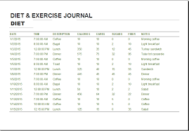 Diet Workout Journal Food And Exercise Journal Template Major Magdalene Project Org