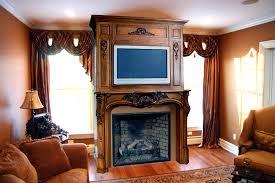 custom mantel with plasma tv