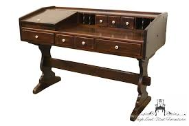 ethan allen antiqued pine old tavern 54 desk 12 9506