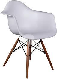 eames dsw replica dining chair. daw eames armchair replica - dining chair timber legs white side angle dsw a