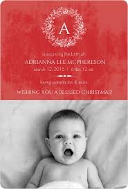 Christmas Birth Announcement Ideas Christmas Holiday Birth Announcement Wording Ideas Samples