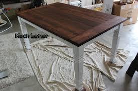 diy farmhouse dining table step 2