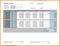 Sample Biweekly Timesheet Calculator
