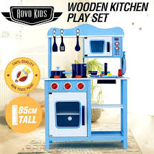 tall play kitchen blue wooden kids toy kitchen best play kitchen for tall toddler