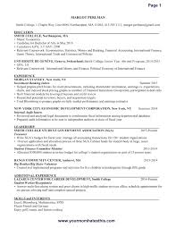Resume Model For Experience Candidate Resume Simple Resume Format Sample