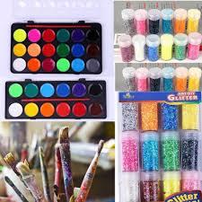details about 12 16 18 color solid watercolor paint pen set tin box art supply art diy glitter