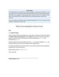 Letter To Renew Lease - Kleo.beachfix.co