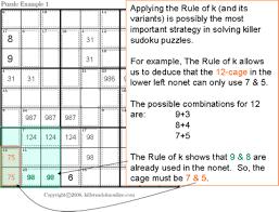 Sudoku Number Combinations Chart Killer Sudoku Tips And Strategies