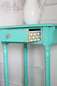turquoise painted furniture ideas. A Cute Design On The Drawer With Some Gold And White Paint. Turquoise Painted Furniture Ideas