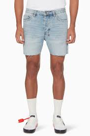 Light Blue Jean Shorts Mens Shop Ksubi Blue Light Blue Dagger Dan Denim Shorts For Men
