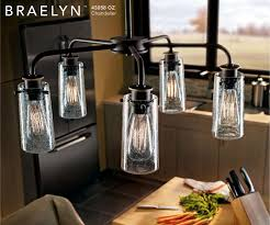 kichler 43058oz olde bronze braelyn 5 light 25 wide chandelier lightingdirect com