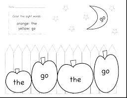 Sight Word Coloring Pages Printable Color Words Coloring Pages