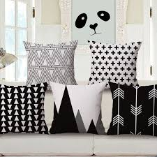 nordic style home decoration of black and white geometric pattern