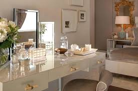 vanity table with mirror and bench interior makeup table with lights white leather bench on grey