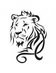 Lev Velké Tribal Nalepovací Tetování