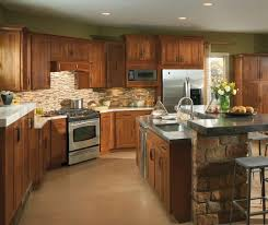 dark rustic cabinets. Kitchen : Dark Wooden Dining Table White Stainless Steel Cabinet Microwave Light Brown Floor Double Rustic Cabinets