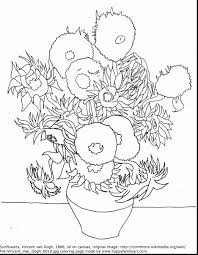 Small Picture Astounding Sunflower Coloring Page With Van Gogh Pages For Van