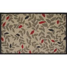 style selections multi rectangular indoor machine made throw rug common 2 x 4
