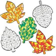 Fensterdeko Herbst Zum Ausmalen Baker Ross