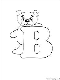 B Coloring Page Letter Coloring Page Letter B Coloring Alphabet