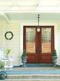 beveled glass doors stained glass