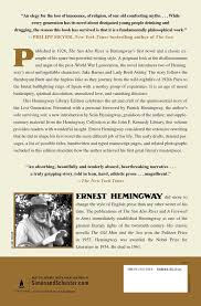 the sun also rises book by ernest hemingway official publisher the sun also rises 9781501121968 hr back
