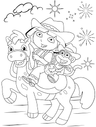 Paint the cover of dasha to your liking. Free Printable Dora The Explorer Coloring Pages For Kids