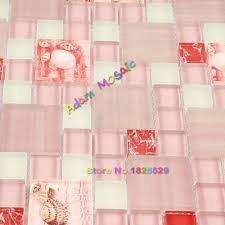 Rosa Mosaik Fliesen Conch Backsplash Glas Weiß Fliesen Küche Wand