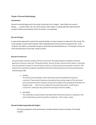 chapter research methodology  chapter 3 researchmethodology introduction researchmethodologyusedinthe studyisdescribedinthischapter specificallythe res
