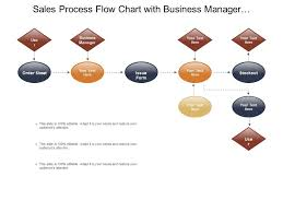Business Sales Process Chart Sales Process Flow Chart With Business Manager And Issue