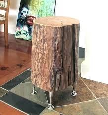 trunk table furniture. Tree Trunk Table Top Furniture Great Stump  Nightstand